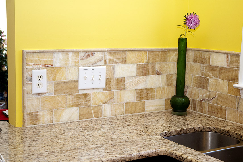 Onyx subway tile
